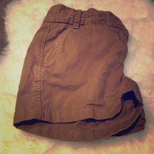 Camel J. Crew Tan Chino Shorts Sz 4